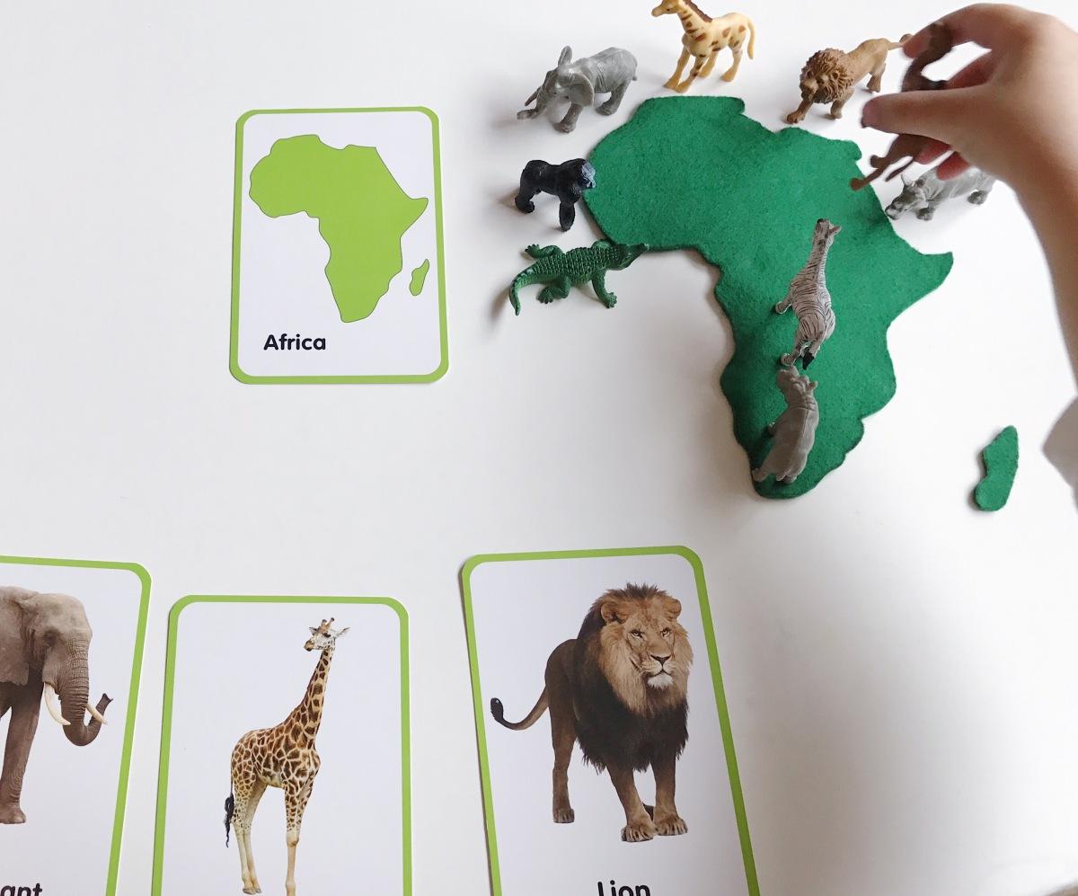 DIY Mapa Montessori: Los continentes