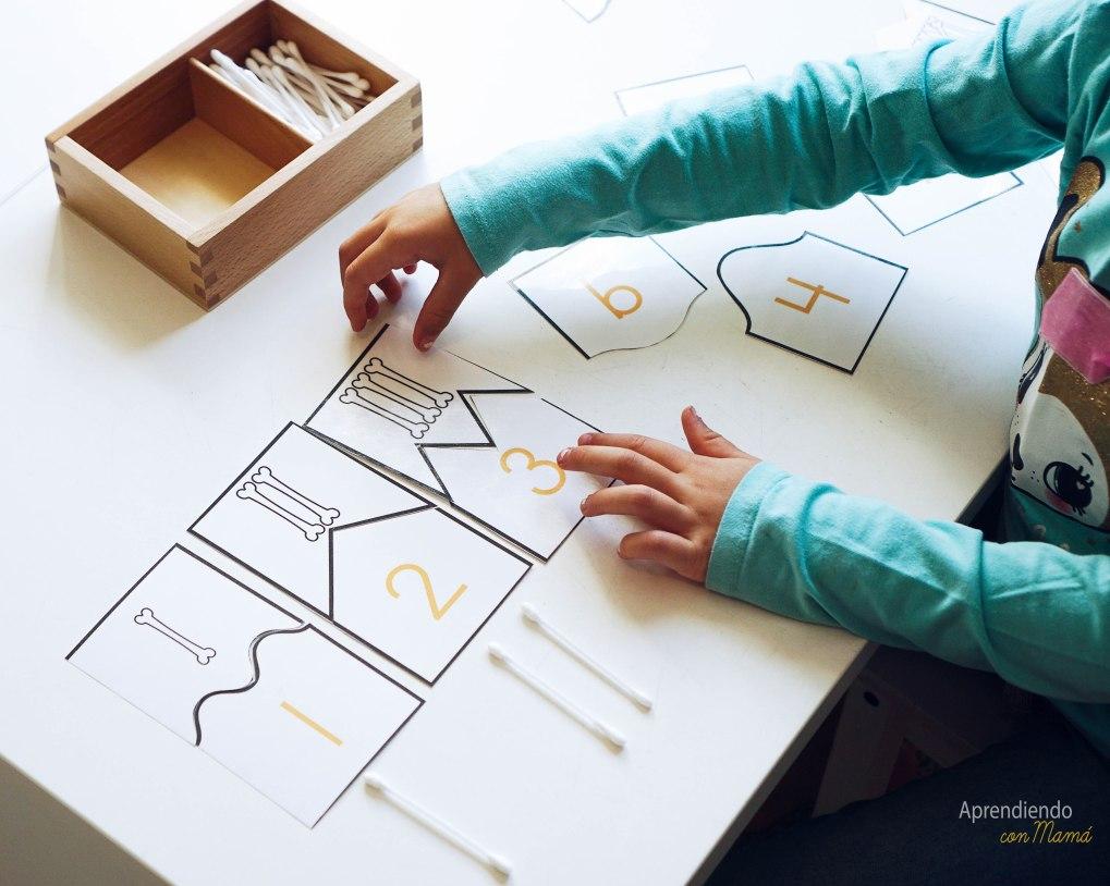 free math skeleton printables Montessori at home.