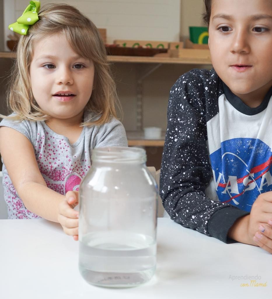 Making a cloud Montessori activities experiment.