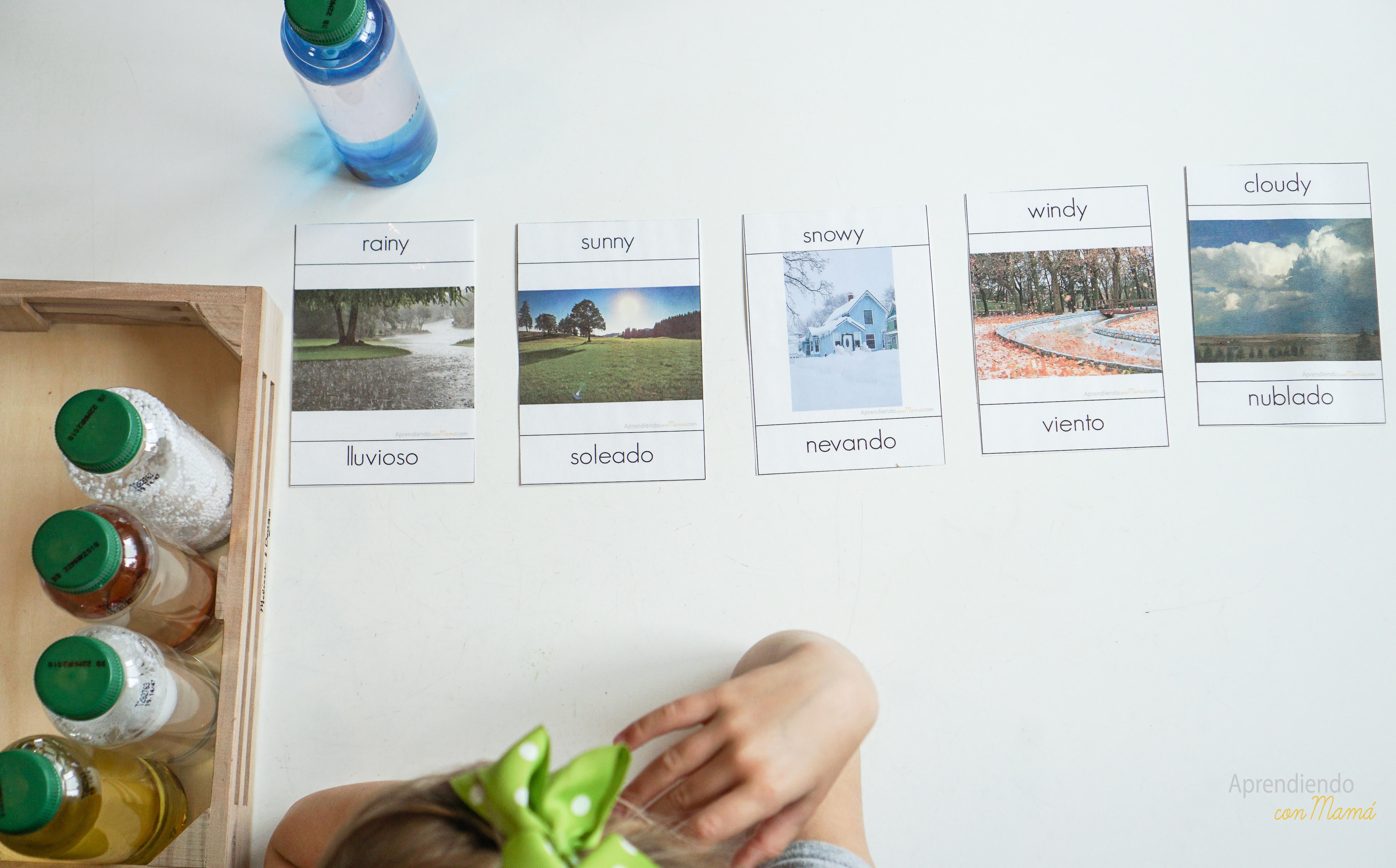 Free weather printables Montessori at home.