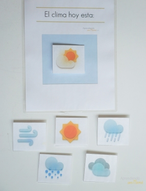 Free Weather station printable. Montessori at home