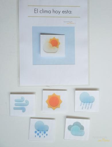 Free Weather station printable. Montessori at home